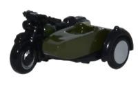 Oxford Diecast NBSA005 Motorbike/Sidecar 34th Armoured Brigade OO Gauge
