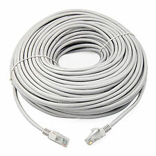 LONG 50m GREY Cat5e RJ45 10/100 Ethernet internet tv Network LAN Cable Lead