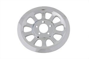 Outer Pulley Cover 66 Tooth Chrome for Harley Davidson by V-Twin