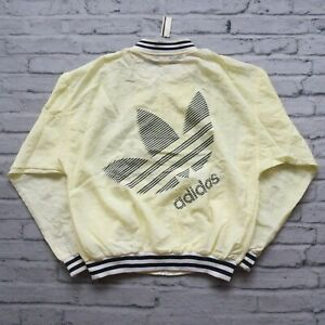 Vintage 80s Adidas Trefoil Big Logo Nylon Jacket Size M L Track Windbreaker