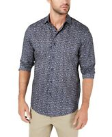 Tasso Elba Mens Shirt Blue Size Small S Button Down Tapestry Print $59 125