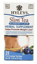 Hyleys 100% Natural Slim Green Tea Blueberry Flavor, 25 Teabags - Please Choose