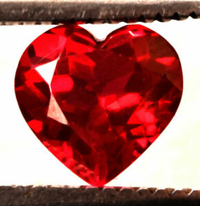 6.10 Cts. Natural Mozambique Red Ruby Heart Cut Certified Gemstone