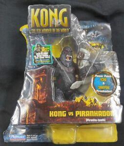 "KING KONG VS PIRANHADON ACTION FIGURE SET MOC 2005 MOVIE PLAYMATES MONSTER 6"""