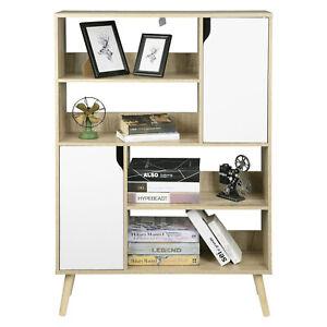 Bücherschrank MDF Standregal Kommode Aktenschrank mit Tür Raumteiler Bücherregal