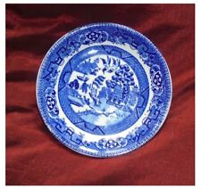 5 x SAUCERS ALFRED MEAKIN 'OLD WILLOW'  14cms diameter REDUCED