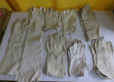 Vintage gloves - short and long - 8 pair leather -Evelyn Block