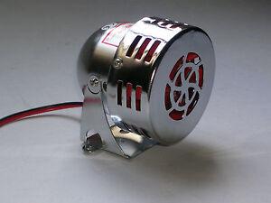sirène électrique us galvaniser 12v  a galet us  neuve motor  siren  alarm new