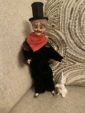 Rare Bisque Head German Character Mystery Man Doll Cuno Otto Dressel? Magician