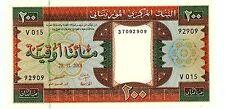 Mauritania . P-5i . 200 Ouguiya . 2001 . Gem*Unc*.