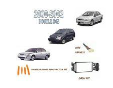 Fits 2000-2002 KIA RIO CINCO SEDONA SPECTRA Stereo Double DIN Dash Kit, Harness