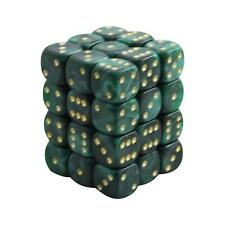 12MM d6 PEARL DICE set - GREEN (x36)