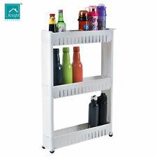 Knight 3 tier Slim Slide Kitchen Trolley Rack Holder Storage Shelf Organiser