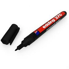 Edding 370 Permanent Marker Pen – 1mm Bullet Tip – Black – Single