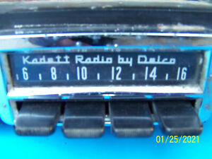 OPEL KADETT COUPE KOMBI RALLY AM ORIGINAL RADIO MADE BY DELCO
