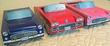6 Cardboard Cars 4 Ford T-Birds + 2 Corvettes Kids Food Box Table Center Favor