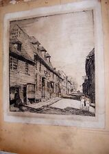 ANTIQUE ETCHING OF THE WHITE HART POSSIBLY BY CHRISTOPHER M SHINER