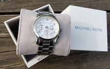 Damen Armband Uhr Michael Kors Mk 5076 Runaway Silber Chronograph