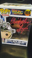 Pop - Back to the Future_#959 Doc With Helmet_Signed by_Christopher Lloyd + COA