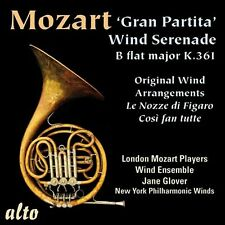 CD MOZART SERENADE GRAN PARTITA 13 WIND K361 WENDT OPERA ARRANGEMENTS LONDON NYP