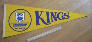 Los Angeles Kings vintage 1970's pennant NHL NICE Forum Hockey