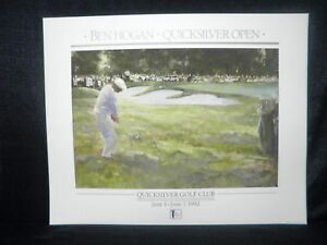 Masters Champ Ben Hogan Quick Silver Open Golf Lithograph