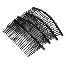 5pcs Blank Metal Hair Comb Slide Side Combs Findings Hair Jewelry Findings