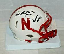 Mike Rozier Autographed Signed Nebraska Cornhusker White Mini Helmet JSA