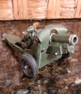 Vintage Britains Toy Ltd Howitzer Cannon Excellent Condition Solid Rubber Tires
