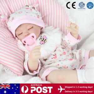 "16"" Handmade Reborn Baby Dolls Newborn Lifelike Vinyl Silicone Sleeping Girl Toy"