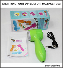 Multi function Brain-Comfort Massager For Head, Body & Face Massager USB Powered
