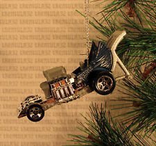 BABY CARRIAGE STROLLER BLUE HOT ROD DRAGSTER RACE RACING CHRISTMAS ORNAMENT XMAS