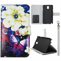 Ivory Flower  For Samsung Galaxy Note 3 N9000 Flip Wallet Leather Case Cover Gl
