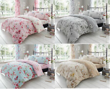 Birdie Blossom Duvet Quilt Cover Reversible Bedding Sets or Curtains All Sizes