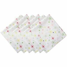 100% Cotton overSized NAPKINS Festive Christmas Holiday cheery winter snowflakes