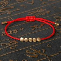 Tibetan Buddhist Creative Copper Beads Rope Bracelet Women Men Handmade Bangle