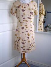 Vintage LAURA ASHLEY Tea Dress Summer Floral Poppy Fabric 90s UK 10 US 6 EU 36