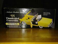 1955 Yellow Ford Thunderbird Convertible Am/Fm Radio with Box