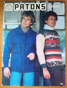 Patons Knitting Pattern, Mens Cardigan & Jumper - Book No 96