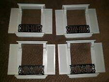 Lot of 4 Madeline's old house in Paris Outer Windows