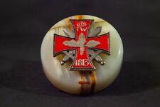 Antique German Iron Cross & Marble Paper Weight - World War I Medal
