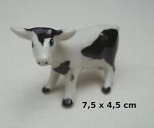 vache en céramique, miniature de collection, koe, kow, bébé vachette, B2-02