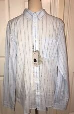 BNWT NN07 Blue Cotton Long Sleeve Shirt. Slim Fit. Size XL