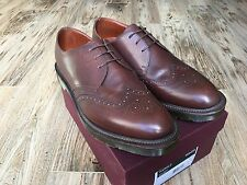 NEW Dr Martens HAROLD 16064201 Made in England Brown Leather Wingtip Men's US 14