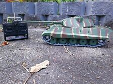 AU Store 1:16 Metal Germany King Tiger RC Tank with Camo Shooting Smoking Sound