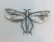 Silver Figural Dragonfly Pin Vincent Simone Vintage Sterling