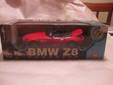 BMW Z8 Roadster In A Red 118 Scale Diecast From MotorMax     New           dc589