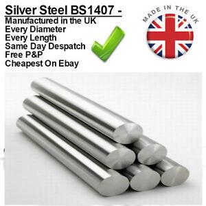 Metric Silver Steel Diameter Bar 100mm + 330mm Ground Round Shaft Rod BS1407