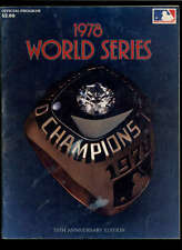 1978 NEW YORK YANKEES VS LOS ANGELES DODGERS OFFICIAL WORLD SERIES PROGRAM LOT10