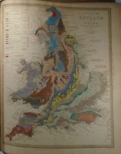 1843 A Geological Map of England and Wales MURCHINSON, Impex